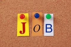 Job Single Word Fotografía de archivo libre de regalías