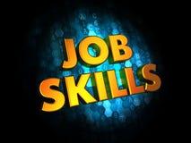 Job Skills Concept en los antecedentes de Digitaces. imágenes de archivo libres de regalías