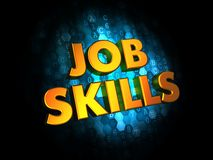 Job Skills Concept op Digitale Achtergrond. Royalty-vrije Stock Afbeeldingen