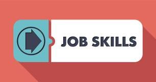 Job Skills sur l'écarlate dans la conception plate Photographie stock