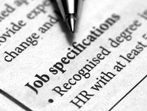 Job specification Stock Photo