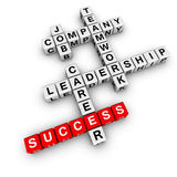 Job strategy crossword Stock Photos