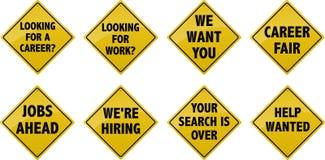 Job Street Signs Imagens de Stock Royalty Free