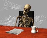 Job Stress engraçado, funcionamento, escritório Imagens de Stock