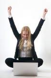 Job Success Career. Young Girl success at job career Stock Images