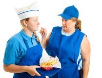 Job teenager - sporgenza media Fotografia Stock