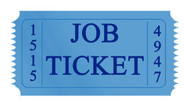 Job ticket Stock Photo