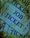 Job ticket Royalty Free Stock Photo