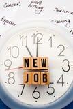 Job Time novo imagem de stock