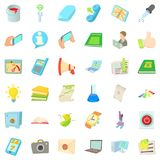 Job title icons set, cartoon style. Job title icons set. Cartoon set of 36 job title vector icons for web isolated on white background Stock Images
