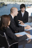 Job training. Businesspeople during a job training in a stylish office stock image