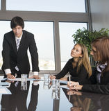 Job training. Businesspeople during a job training in a stylish office stock photos