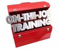 On the Job Training Tools Toolbox stock illustration