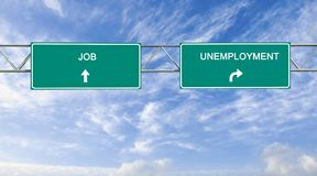 Job and unemployment Royalty Free Stock Photo