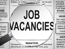 Job Vacancies Arkivbild
