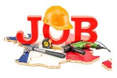 Job Vacancies no conceito de França, rendição 3D Imagem de Stock