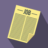Job vacancy icon, flat style Royalty Free Stock Photos