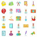 Job vacancy icons set, cartoon style Stock Photos