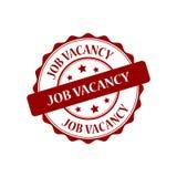 Job vacancy stamp illustration. Job vacancy red stamp seal illustration design Stock Photos