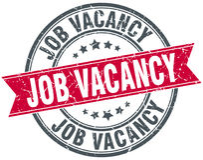 Job vacancy round grunge stamp Royalty Free Stock Photo