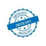 Job vacancy stamp illustration. Job vacancy stamp seal illustration design Stock Images