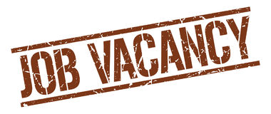 Job vacancy stamp Royalty Free Stock Photography