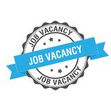 Job vacancy stamp illustration. Job vacancy stamp seal illustration design Royalty Free Stock Photo