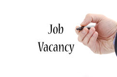 Job vacancy text concept. Isolated over white background stock photography