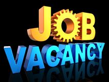 Job vacancy text (Hi-Res) Stock Photography