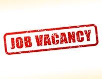 Job vacancy text stamp. Illustration of job vacancy text stamp Stock Photo