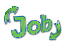 Job. Vector based illustration of a job sign with arrows Stock Photography