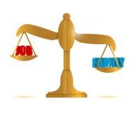 Job versus family balance illustration Royalty Free Stock Photo