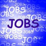 Job-Wörter stellt die berufliche Berufung und Arbeit dar stock abbildung