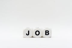 Job, Würfelbuchstaben Stockbild