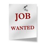 Job wanted stock illustration