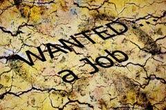 Job wanted Royalty Free Stock Image