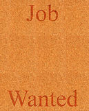 Job wanted on corkboard Royalty Free Stock Images