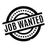 Job Wanted rubber stamp Royalty Free Stock Images