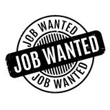 Job Wanted rubber stamp Royalty Free Stock Photography