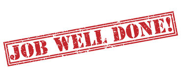 Job well done! red stamp Royalty Free Stock Photo