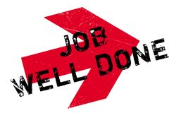 Job Well Done rubber stamp Royalty Free Stock Photos