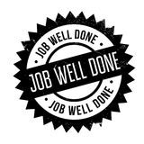 Job Well Done rubber stamp Stock Images