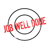 Job Well Done rubber stamp Royalty Free Stock Images