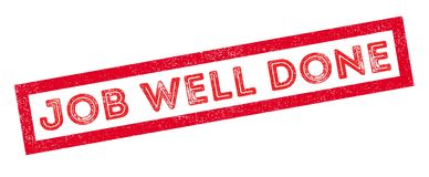 Job Well Done rubber stamp Stock Image