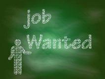 Job wünschte Hintergrund Lizenzfreie Stockfotos