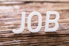Job Word blanc photo stock