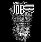 Job word cloud Royalty Free Stock Images