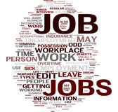 Job word cloud. Job gorgeous tag clouds for your design Stock Photo