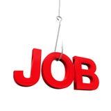 Job Word en el gancho Fotos de archivo
