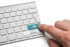 Job word on keyboard Royalty Free Stock Image